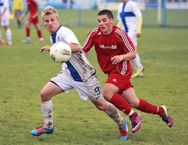 Mladí hráči fotbalu