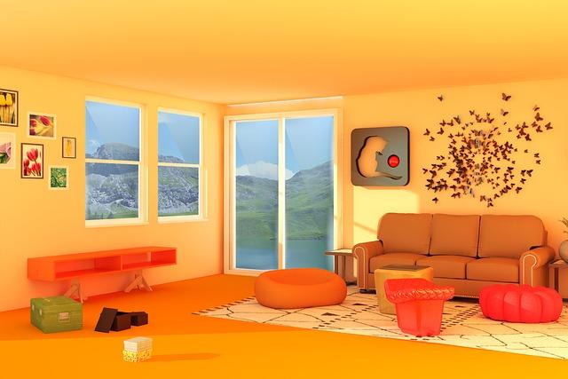 oranžová místnost